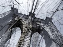 Two Arches Brooklyn Bridge New York Stock Photos