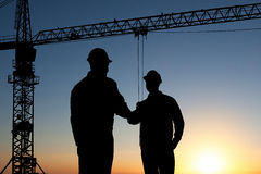 Two architect shaking hand Stock Image
