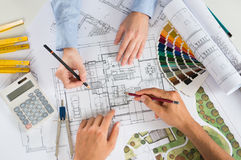 Two Architect Working Together Stock Images