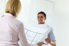 Two Architects Royalty Free Stock Photography