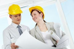 Two architects Stock Image