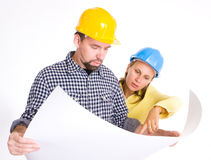 Two Architects Royalty Free Stock Image