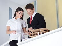 Two architects discussing Stock Images
