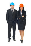 Two architects in formal wear royalty free stock photo