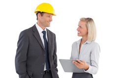 Two architects looking at each other Royalty Free Stock Photo