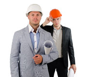 Two architects in partnership Stock Image
