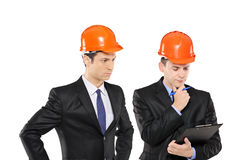 Two architects in thoughts Royalty Free Stock Image