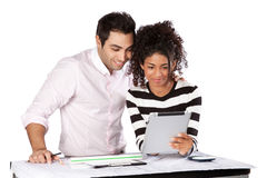 Two Architects Using Digital Tablet Royalty Free Stock Photo