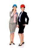 Two architects women with house key. Stock Photography