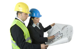 Two architects working Royalty Free Stock Photography