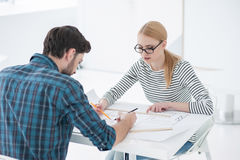Two architects working together in office Stock Photo