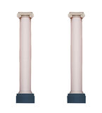 Two architectural classic column isolated on white background Stock Image