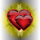 Two ardent  hearts Stock Image
