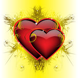 Two ardent  hearts Stock Photo
