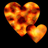 Two ardent hearts Stock Photos