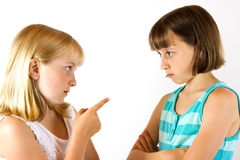 Two Arguing Sisters Royalty Free Stock Image