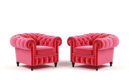 Two Armchairs. Royalty Free Stock Photo