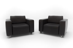 Two armchairs on Royalty Free Stock Images