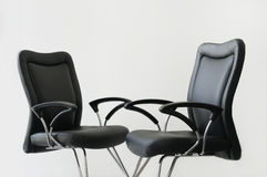 Two armchairs. Are located so that it was possible to present confidential conversation Stock Photography