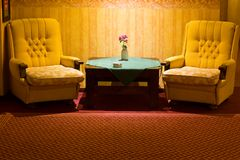 Two armchairs in a hotel Stock Images