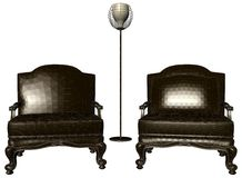 Two Armchairs And Lamp Vector 14 Royalty Free Stock Photography