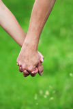 Two arms of lovers Stock Image