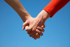 Two arms together Stock Photos