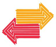 Two arrows Stock Photo