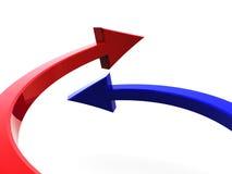 Two arrows Stock Photos