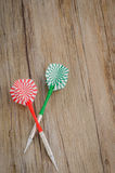 Two arrows darts Royalty Free Stock Images