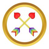 Two Arrows LGBT Vector Icon Stock Image