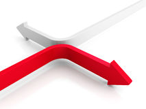 Two Arrows Moving In Different Directions Stock Image