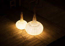 Two Art lamps bird eye view Royalty Free Stock Photos