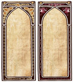 Two art nouveau frames. With space for text or illustrations Stock Image