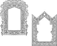 Two Art Nouveau Frames Stock Photo