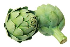 Two artichoke Stock Photo