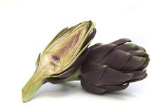 Two artichokes Royalty Free Stock Photos