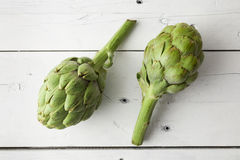 Two artichokes Royalty Free Stock Images