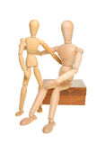 Two artist's manikins Royalty Free Stock Images