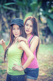 two Asia young women stock photography