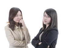 Two asian business Royalty Free Stock Image