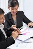 Two Asian businesswomen Stock Photo