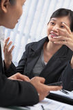 Two Asian businesswomen Stock Photo