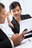 Two Asian businesswomen Stock Image