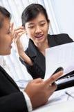 Two Asian businesswomen Stock Image