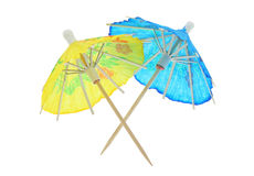 Two asian cocktail umbrellas Royalty Free Stock Photos