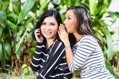 Two Asian girlfriends Royalty Free Stock Images