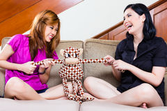 Two asian girls at home Royalty Free Stock Photos