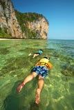 Two asian human diving Stock Photos