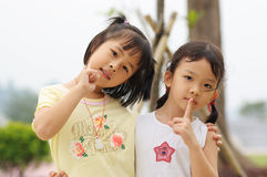Two asian kids Stock Image